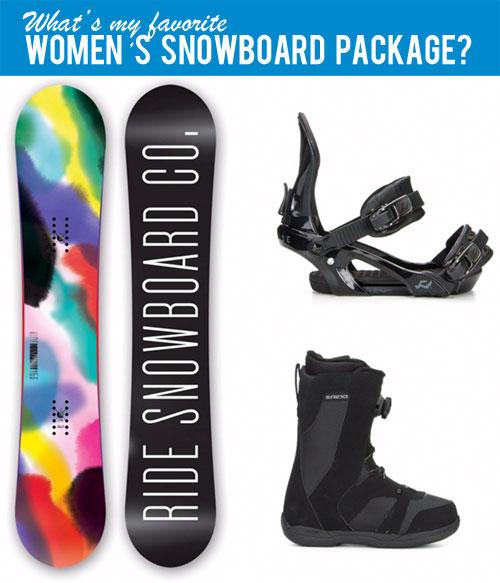 Women's Snowboard Package Deals